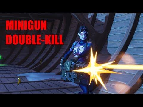 FORTNITE MINIGUN DOUBLE-KILL