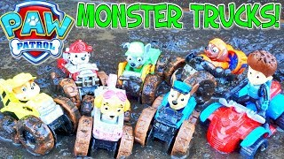 Paw Patrol Monster Trucks Transformation Mud Party Rescue Squad Adventure Bay