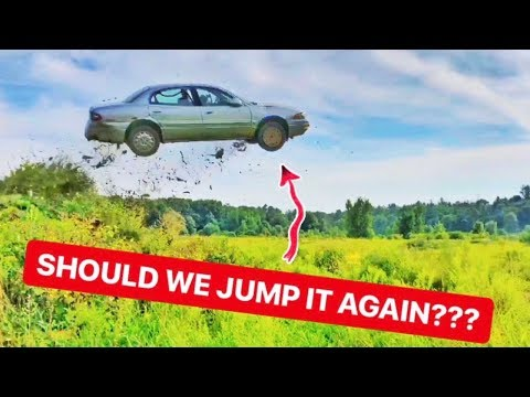 EPIC Buick LeSabre Flat Tire CAR JUMP!!! | Mark Freeman #408
