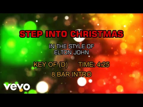 Elton John - Step Into Christmas (Karaoke)
