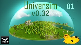 Let's Play – Universim – Steam Release – Alpha – Version 0.0.32 - Episode 01 [Flat Planet]: