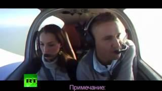 Пилот делает предложение девушке в падающем самолете