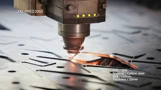 ZXL-FPED Gantry Exchange Platform Fiber Laser Cutting Machine youtube video