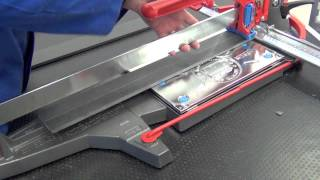 Cutting Porcelain Tile 10mm with manual tile cutter