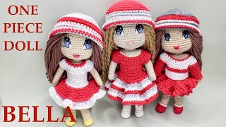 Crochet Doll Body Bella. Amigurumi Doll Body.  A No-Sewing Pattern.  Beginner Friendly (part 1)