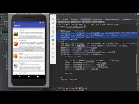 66- Android Food App || Different ticket in ListView - تطبيق عالم الطبخ