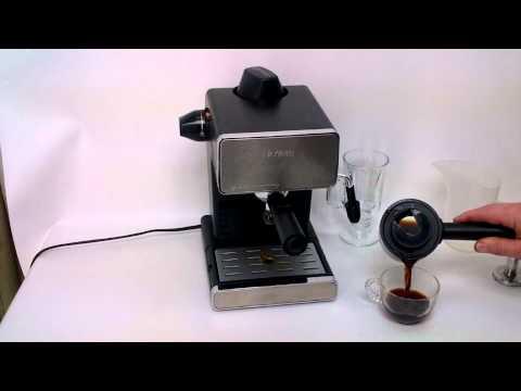 , Mr. Coffee Café Steam Automatic Espresso and Cappuccino Machine, Silver/Black