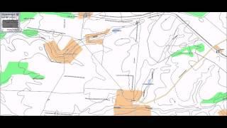 Топографическая карта Тамбовской области 1 см 500 м