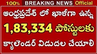 ఆంధ్రప్రదేశ్ లో 1,83,334 ఉద్యోగ ఖాళీలు   AP Jobs Calendar 2021 Latest Update