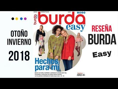 Reseña de la revista Burda Easy Otoño - Invierno 2018