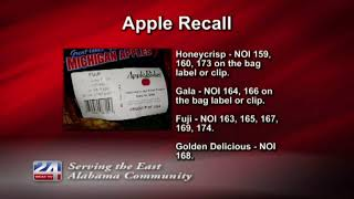 Recall on Jack Brown Produce Apples