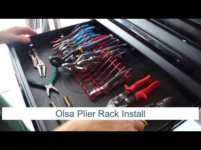 Youtube Video for Plier Organizer Rack For Tool Box Drawer by Luke's Amateur Hour