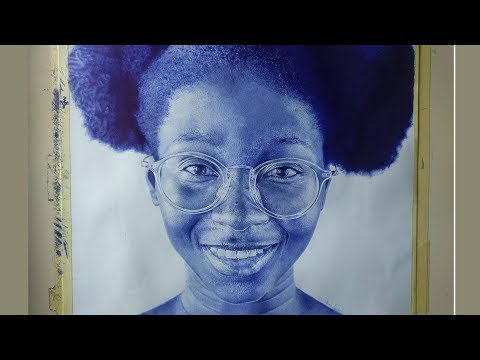 Making a Hyper Realistic Portrait with a Ballpoint Pen