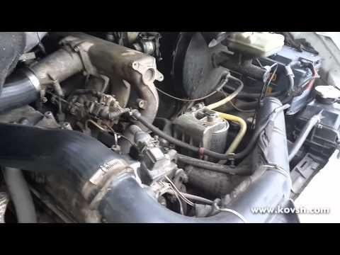 Холодный запуск Mercedes Sprinter 2.9 с зажатыми гидрокомпенсаторами и после их торцевания