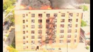 LIGHTENING STRIKE SET BUILDING ON FIRE BROOKLYN