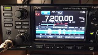 ICOM 7300 in the shack