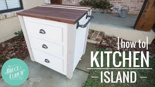 How To Make A Mobile Kitchen Island // DIY Woodworking Project