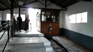 preview picture of video 'ジェリダのケーブルカー Funicular de Gelida ~Gelida Estacio inferior駅到着'