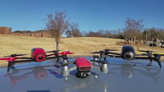 Camera comparison of the DJI Spark, Parrot Bebop, and Bebop 2 Power