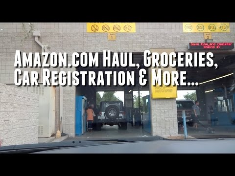 Amazon.com Haul, Groceries, Car Registration & More... (Day 115 - 2.23.2015)