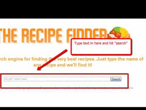 Foodnetwork.com and allrecipe.com Search Engine