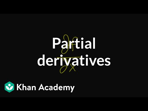 Partial derivatives, introduction (video) | Khan Academy