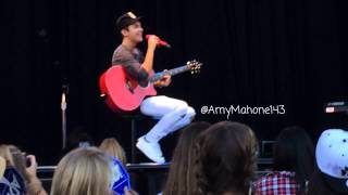 Austin Mahone OC Fair Souncheck Loving You Is Easy