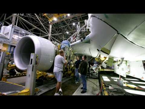 O nascimento de um Boeing 737-800 em três minutos