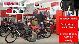Gepäckträger Montage bei E-MTB, E-Fully und E-Crossbike