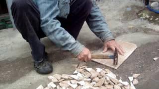 Как правильно разбить плитку для ручной работы мозаика.