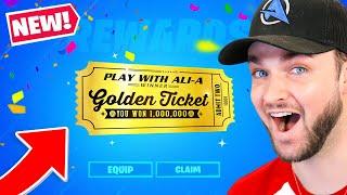 *NEW* GOLDEN TICKET Winners in Fortnite!