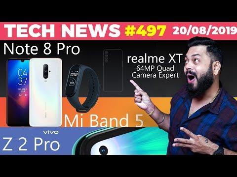 Realme XT 64MP Launch, Redmi Note 8 Pro Image, Vivo Z2 Pro? Redmi 8 with Quad Cam, Mi Band 5-TTN#497