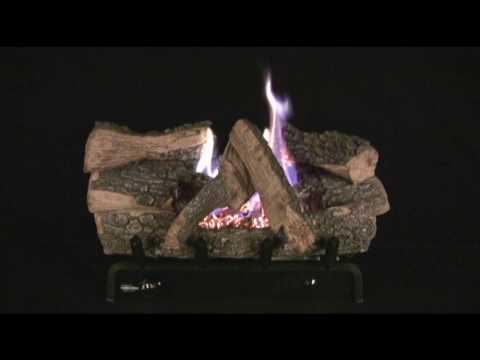 Chillbuster Evening Embers Triple Burner (C5) Vent-Free Gas Log Set