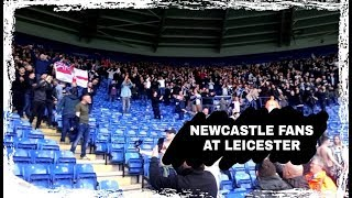 Newcastle fans in fine voice at Leicester