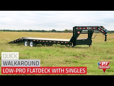 2021 PJ Trailers Low-Pro Flatdeck with Singles (LS) 24 ft. in Kansas City, Kansas - Video 1