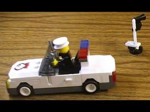 Lego совместимый Enlighten Скорость замеряющая полицейская машина 125 Обзор и сборка конструктора.