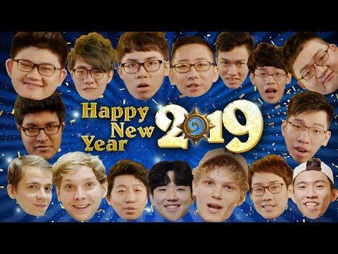 爐石戰記選手祝大家新年快樂 ^_^