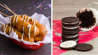 Veterans Try to Re-Create Our Deep Fried Oreos Recipe!!!   So Yummy Top-Down Challenge