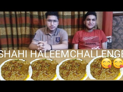 SPICY SHAHI HALEEM EATING CHALLENGE|WIKI FOOD WORLD😱😮