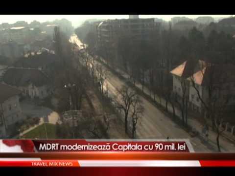 MDRT modernizeaza Capitala cu 90 mil. lei.