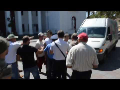 Появилось видео нападения на Савченко в Одессе (неценз. лексика). Новости сегодня видео