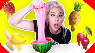 SLIME VS FRUIT! Giant Fruit Slime Smoothie! Watermelon Slime, Pineapple Slime! So Satisfying
