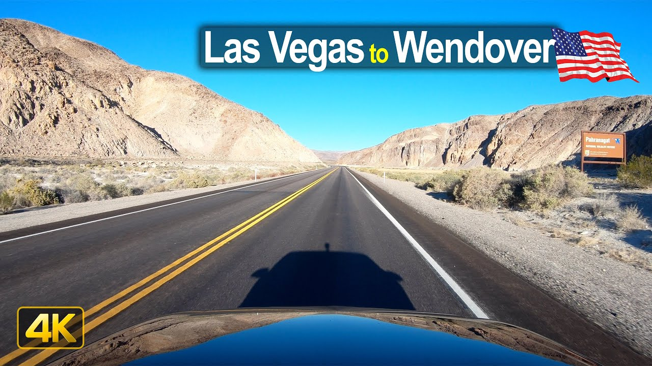 USA Road Trip – Las Vegas NV to Wendover UT in 4K
