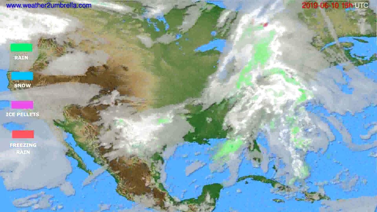 Precipitation forecast USA & Canada // modelrun: 12h UTC 2019-06-07