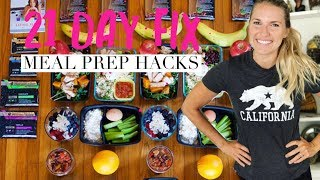 21 Day Fix Meal Prep Hacks