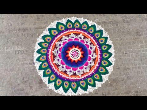 mandala rangoli designs big and colorful by ganesh vedpathak