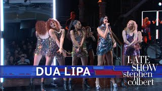 Dua Lipa Performs 'IDGAF'
