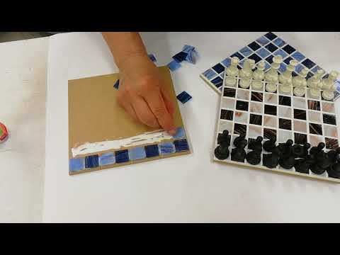 Mosaic chessboard, Blue, DIY
