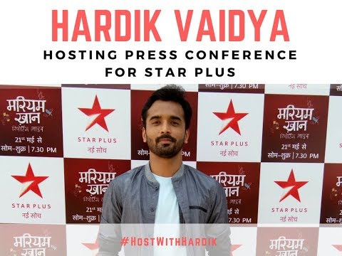 Corporate Anchor Hardik Vaidya hosting the Press Conference for Star Plus
