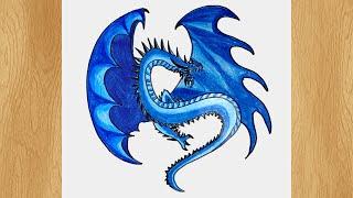 Draw A Dragon Of Ice I Easy Dragon Drawing Tutorial